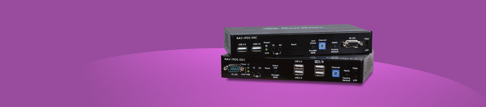 Raritan RAV-IP HDMI Extender Solution - CATx up to 330ft and Fiber Connections up to 6.2 miles - Transparent USB & Audio Support